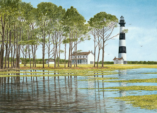 Bodie Island Reflections - Giclee