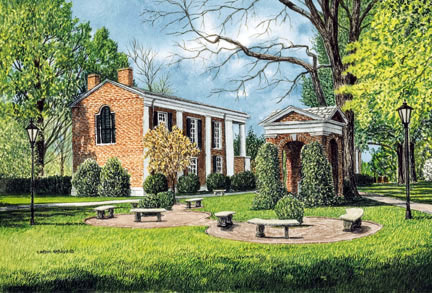 The Well at Davidson College Note Cards
